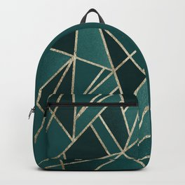 Classic Teal Champagne Gold Geo #1 #geometric #decor #art #society6 Backpack