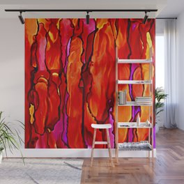 Reverie in Red Yellow and Violet Wall Mural