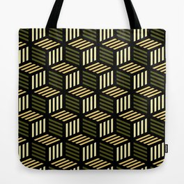 Cubic Olive Tote Bag