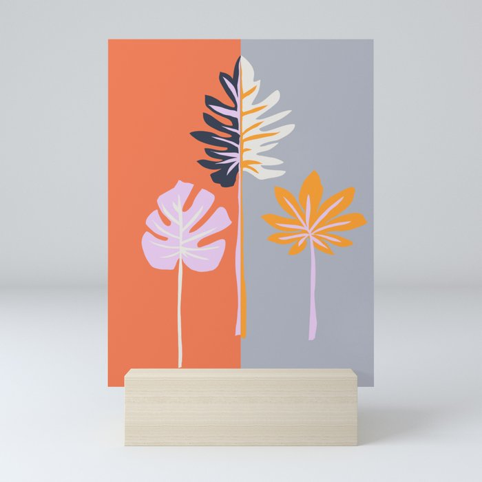 Double-sided leaves Mini Art Print