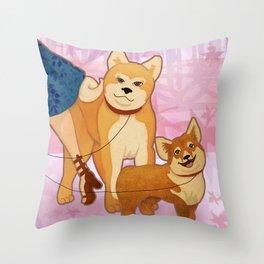 Woof La La Throw Pillow