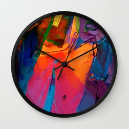 Walking with Sunset  Wall Clock