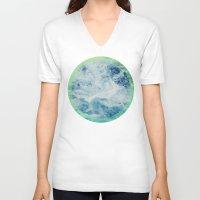 splash V-neck T-shirts featuring Splash by Leah Flores