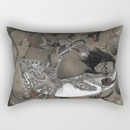 Holy Mother of HipHop Blessed Be Thy Beats. Rectangular Pillow