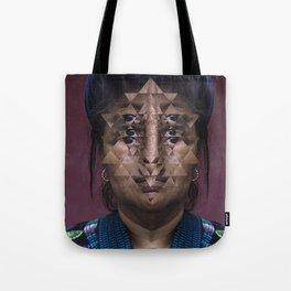 Glitch Portrait #1 Tote Bag