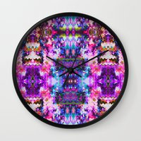 trippy Wall Clocks featuring Trippy by Padi Patt