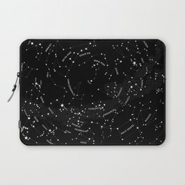 Constellation Map - Black Laptop Sleeve