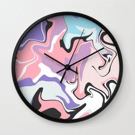 Paint Spill Wall Clock