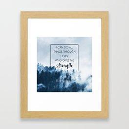 Forest Philippians 4:13 Framed Art Print