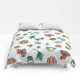 Rustic Campsite Illustration Comforters