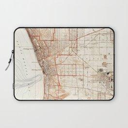Vintage Map of Redondo Beach & Torrance CA (1934) Laptop Sleeve
