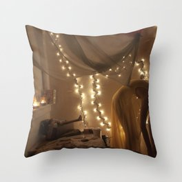 my bedroom is filled with love Throw Pillow