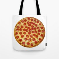 pizza Tote Bags featuring Pizza by I Love Decor