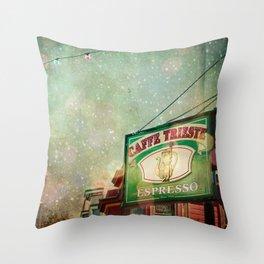 Caffe Trieste Throw Pillow