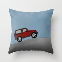 jeep Throw Pillows featuring Jeep Jeep by rochaStuff