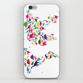 Dinosaur Map of the World Map iPhone Skin