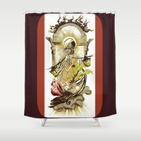 tarot Shower Curtains featuring Sun Tarot by A Hymn To Humanity