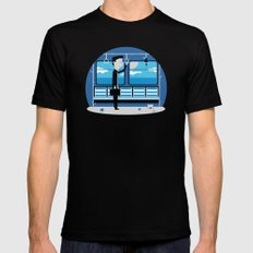 Dreaming of Holidays Mens Fitted Tee MEDIUM Black
