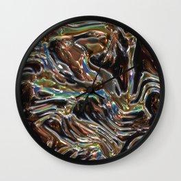 Iridescent Copper Wall Clock