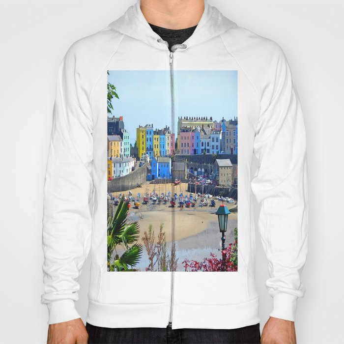 Tenby Harbour.Colour.Reflection. Hoody