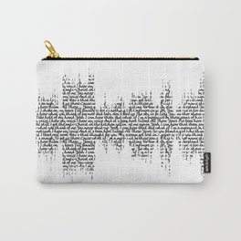 Tori Amos - Silent All These Years Lyrics Soundwave (light backgrounds) Carry-All Pouch