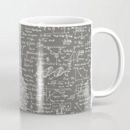Physics Equations // Slate Grey Coffee Mug