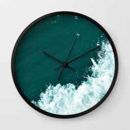 Fluffy Seafoam Wall Clock