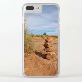 Stacked Rocks in Moab Clear iPhone Case