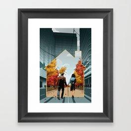 Seeking Suburbia Framed Art Print