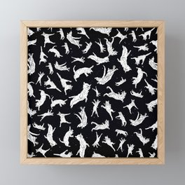 Cat Yoga Framed Mini Art Print