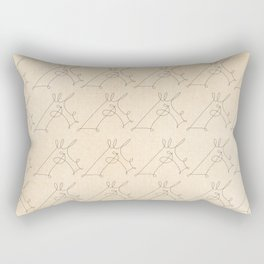 Scribbled Unicorn V3 Rectangular Pillow