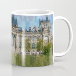 Reichstag, Berlin    /  impressionism style Illustration  / painting abstract landmarks drawing Coffee Mug