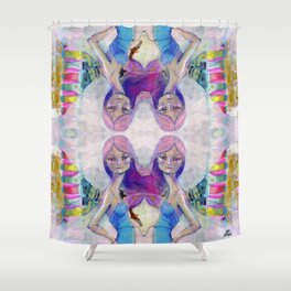 Perfect Little - Kaleidascope version by Jane Davenport Shower Curtain