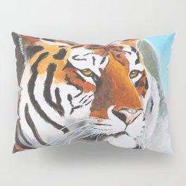 Quiet Tiger - big cat - animal - by LiliFlore Pillow Sham
