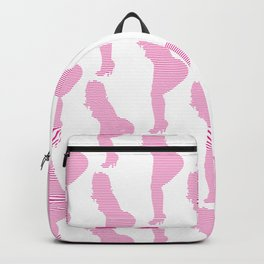 sexy girl posing line art seamless design. Backpack