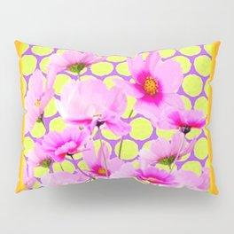 MODERN PINK COSMOS GARDEN ART Pillow Sham