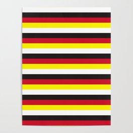 Brunei flag stripes Poster