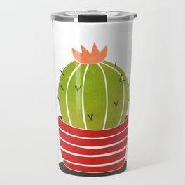 A cactus in a pot Travel Mug