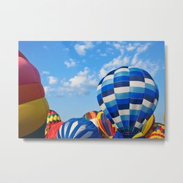 Vibrant Hot Air Balloons Metal Print