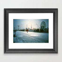 Boardwalk @ Coney Island Framed Art Print