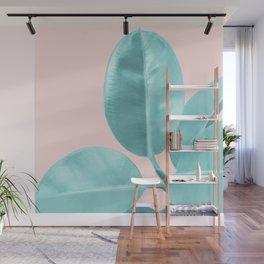 Ficus Elastica Pastel Blush Glam #1 #tropical #foliage #decor #art #society6 Wall Mural