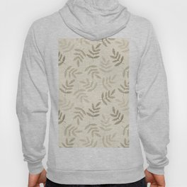 Vintage white gray black pastel color leaves pattern Hoody