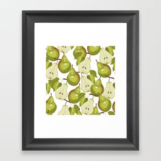 Pears Pattern Framed Art Print