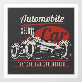 Indy car racing Art Print