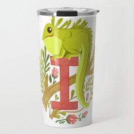 I is for Iguana Travel Mug