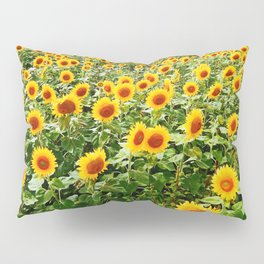 Field of Sunny Flowers Pillow Sham