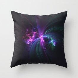 Fireworks Fractal Throw Pillow