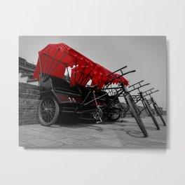 Rickshaw Metal Print