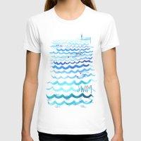 swim T-shirts featuring Swim by Rebecca Pomroy