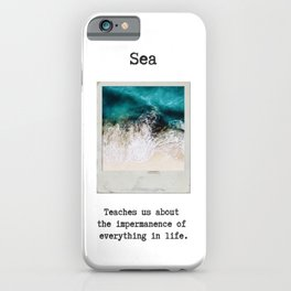 Small Emotional Dictionary: Sea iPhone Case